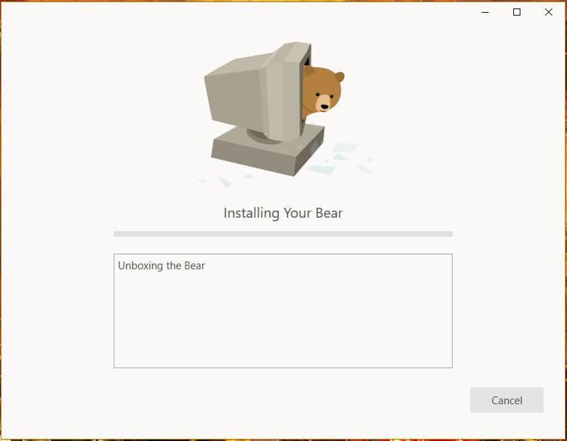 TunnelBear Windows Setup 2