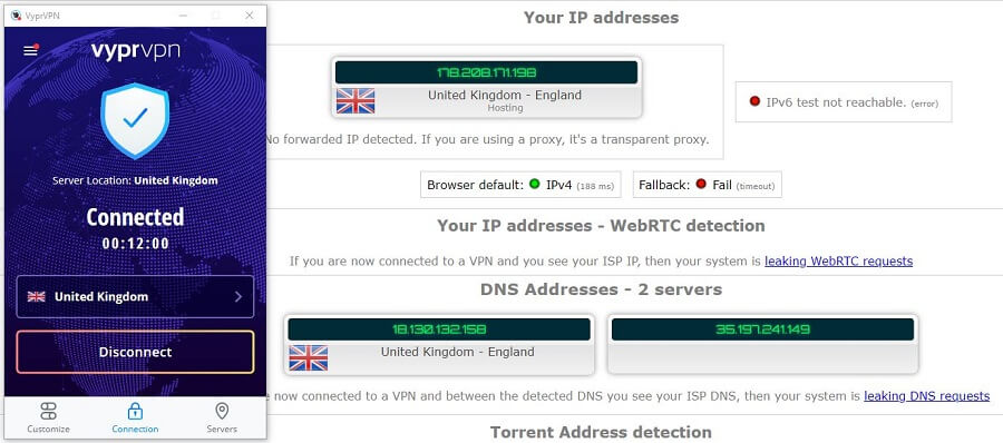 VyprVPN IP Leak
