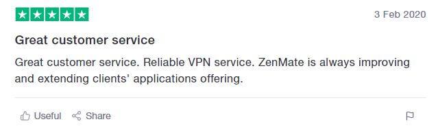 ZenMate TrustPilot
