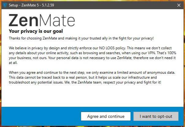 ZenMate Windows Setup 2