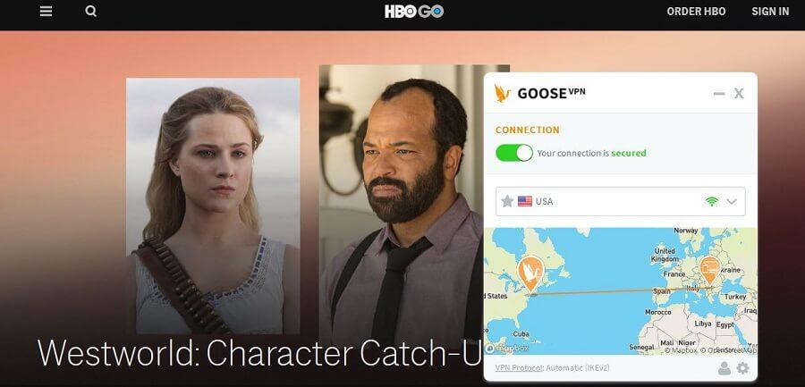 Goose VPN HBO GO