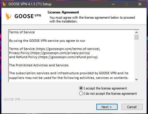 Goose VPN Windows 2