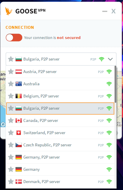 Goose VPN Windows App 3