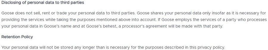 Goose VPN Zero Log Policy