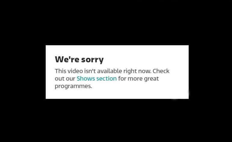 ITV Error