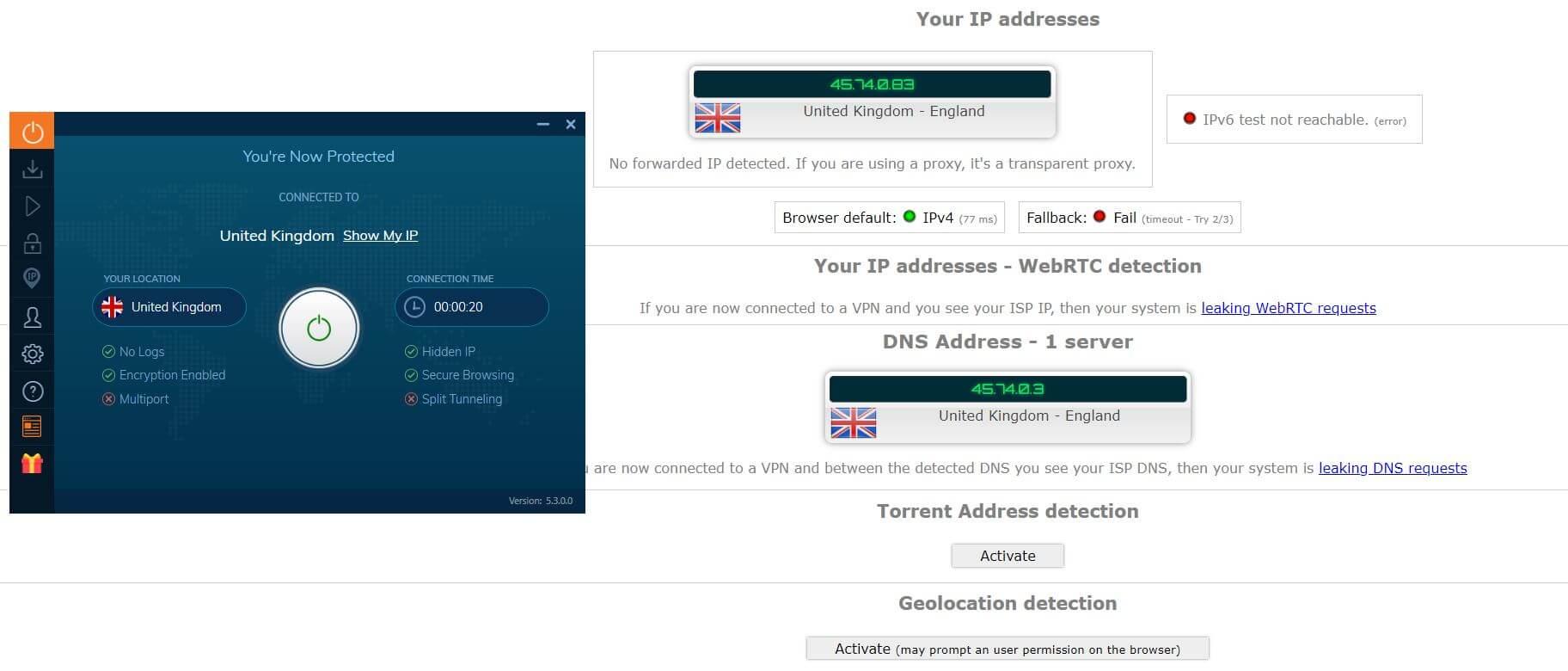 Ivacy IP LEAK