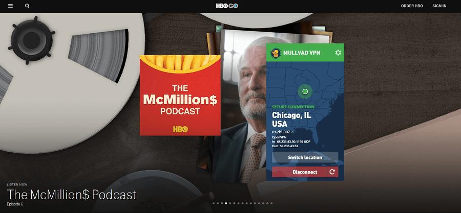 Mullvad HBO GO
