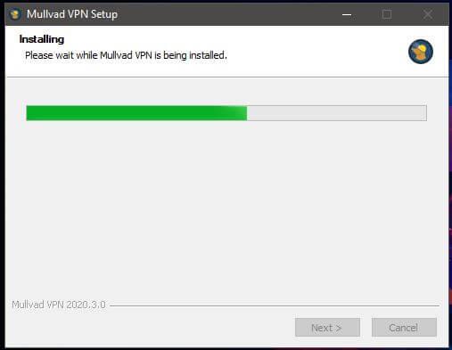 Mullvad Windows Installation
