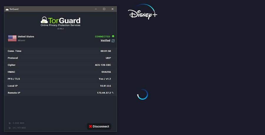 TorGuard Disney+