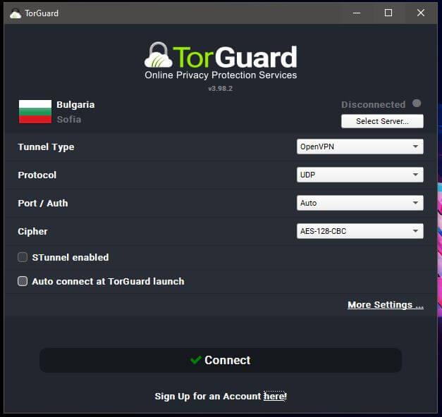 TorGuard Windows App 1