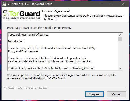 TorGuard Windows Installation 1