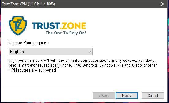Trust.Zone Windows Setup 1