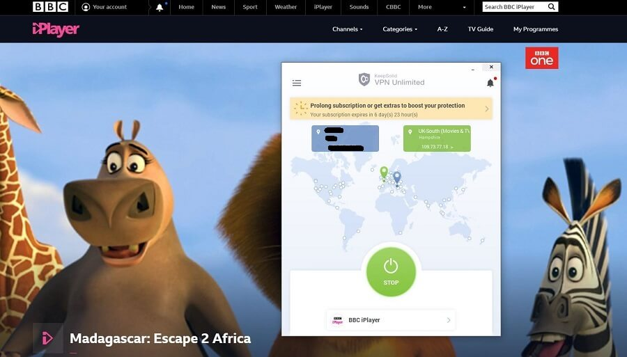 VPN Unlimited BBC iPlayer Test
