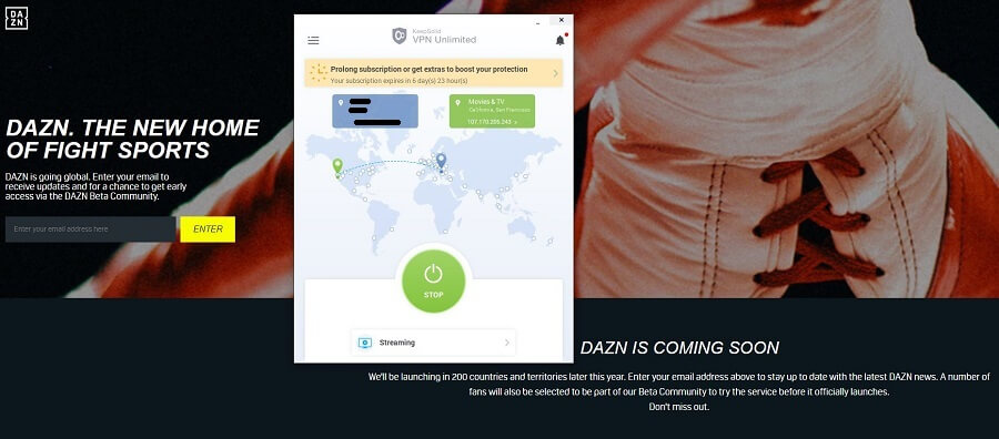 VPN Unlimited DAZN