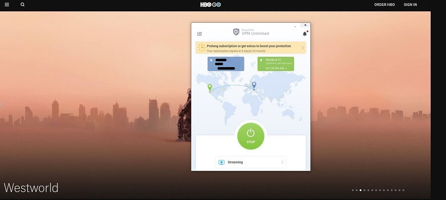 VPN Unlimited HBO GO
