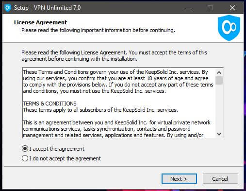VPN Unlimited Windows Setup 1