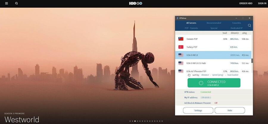 VPNarea HBO GO