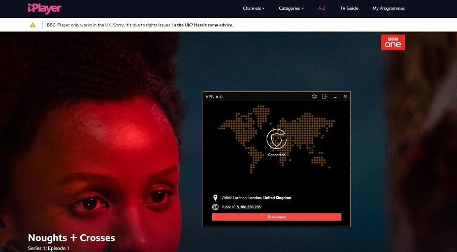 VPNhub BBC iPlayer