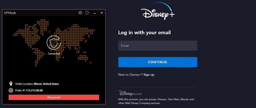 VPNhub Disney+