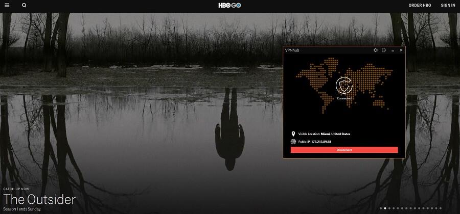 VPNhub HBO GO