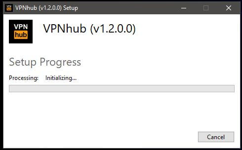 VPNhub Windows Setup 2