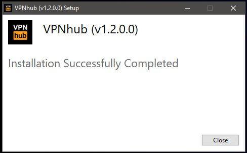 VPNhub Windows Setup 3