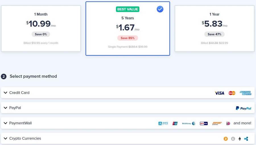 VeePN Pricing & Payment Methods