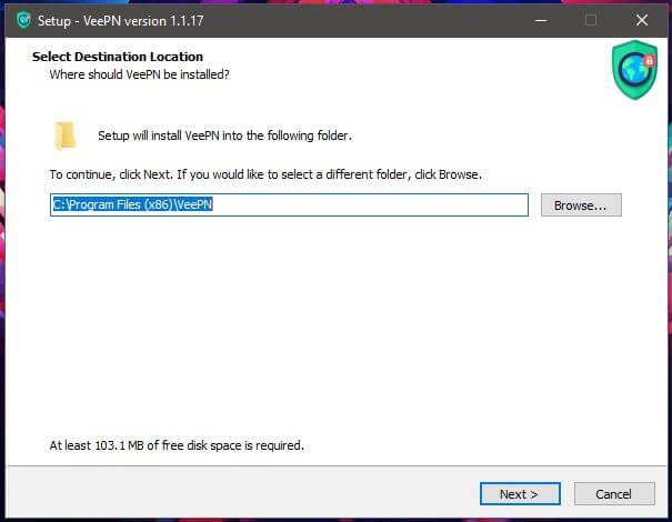 VeePN Windows Setup 1