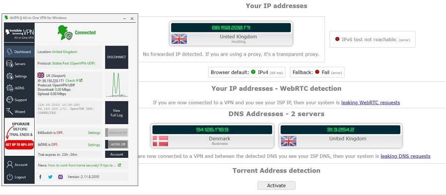 ibVPN IP Leak