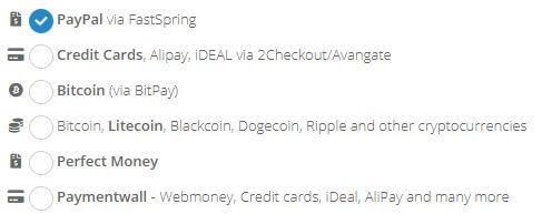 ibVPN Payment Methods