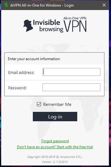 ibVPN Windows App 1