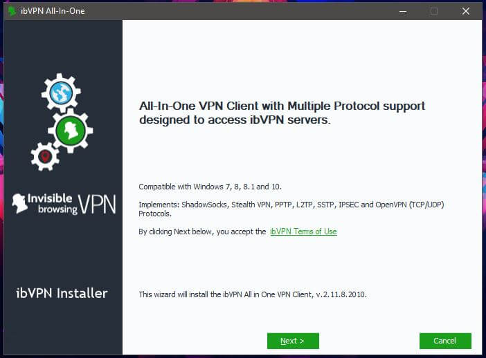 ibVPN Windows Setup 1