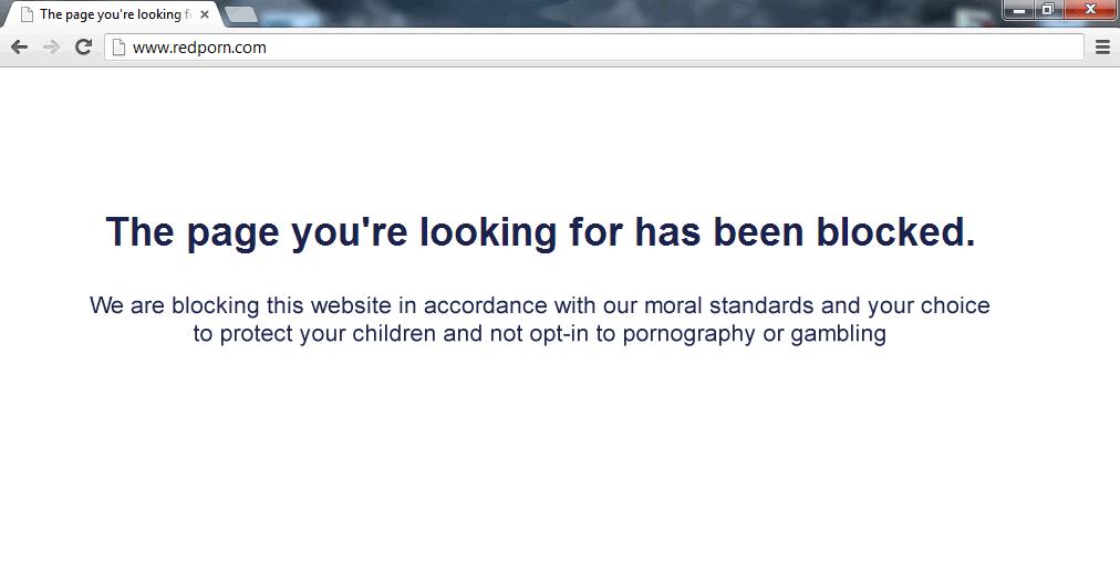 porn blocked