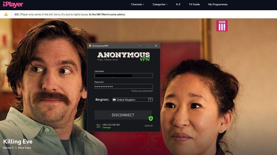 Anonymous VPN BBC iPlayer