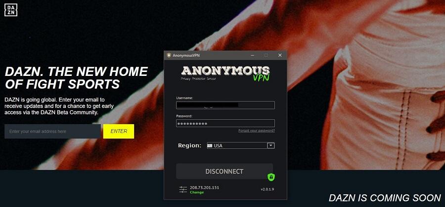 Anonymous VPN DAZN