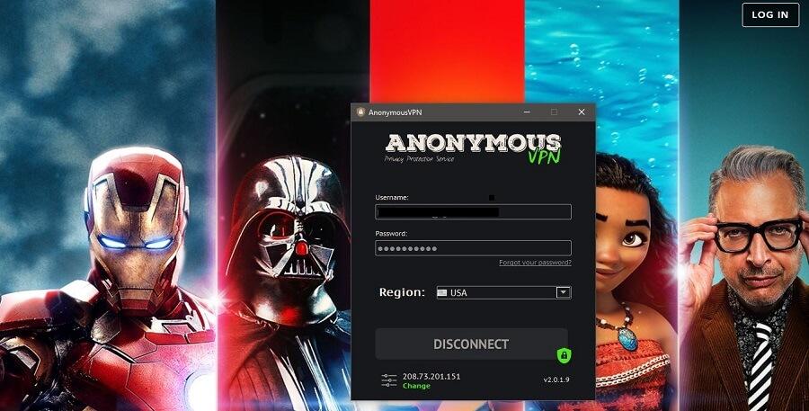 Anonymous VPN Disney+