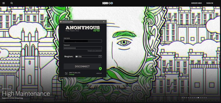 Anonymous VPN HBO GO
