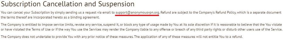 Anonymous VPN Refund 2