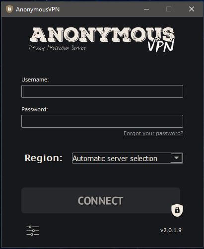 Anonymous VPN Windows App 1