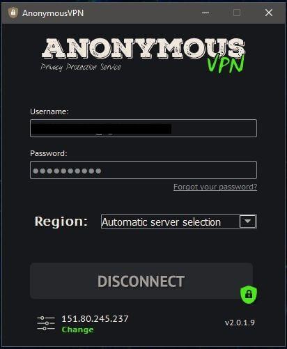 Anonymous VPN Windows App 2