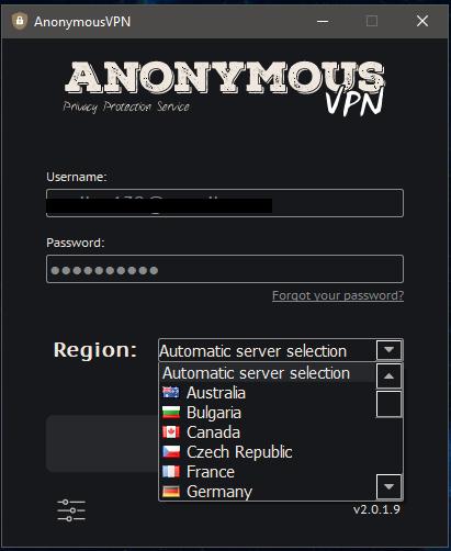 Anonymous VPN Windows App 3