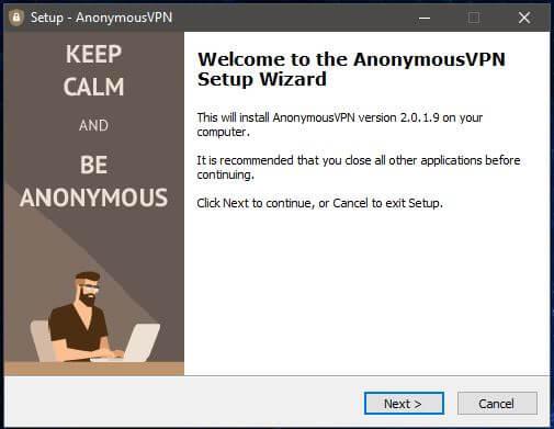 Anonymous VPN Windows Setup 1