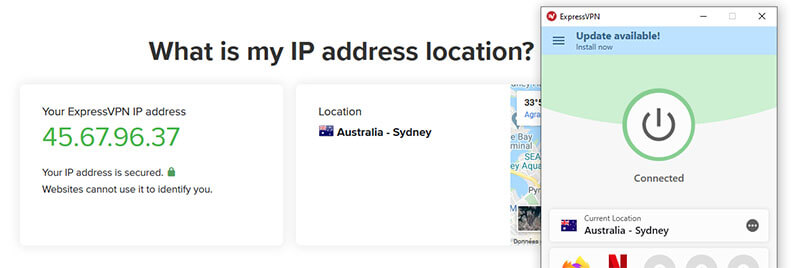 Australian IP with ExpressVPN