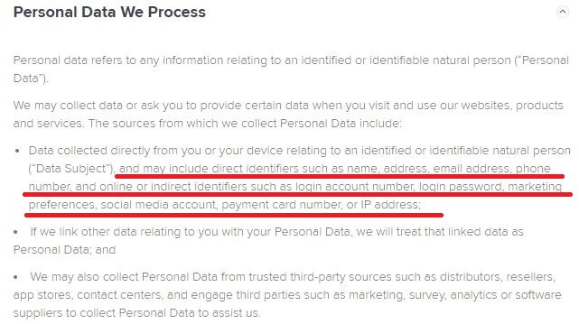 Avast SecureLine Privacy Policy 1
