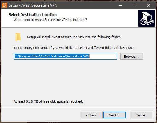 Avast SecureLine Windows Setup 2