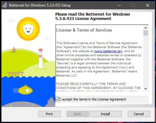 Betternet Windows Installation 1