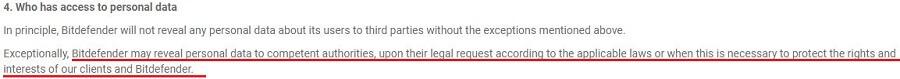 Bitdefender Privacy Policy 2