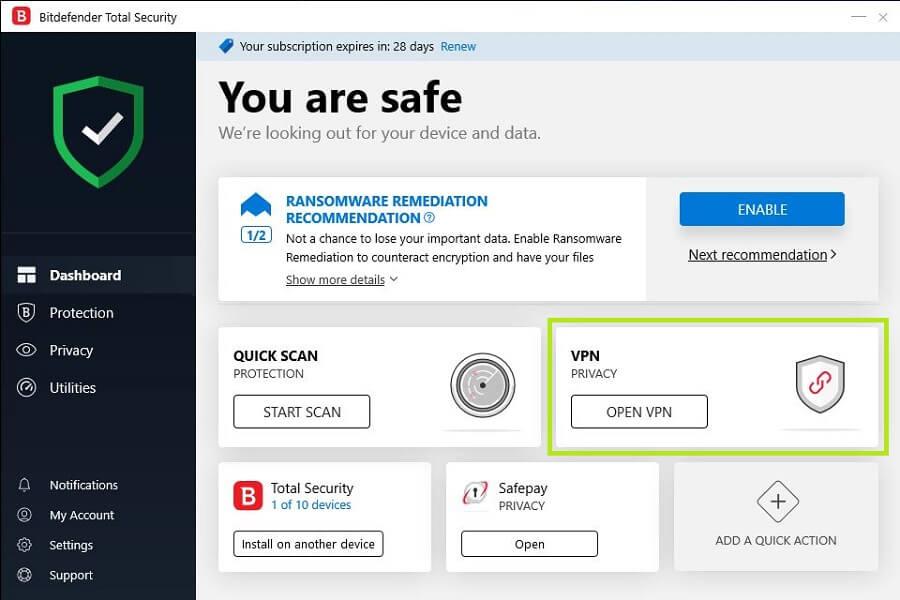 Bitdefender Windows App 3