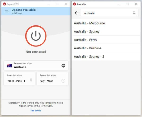 ExpressVPN Australian Server