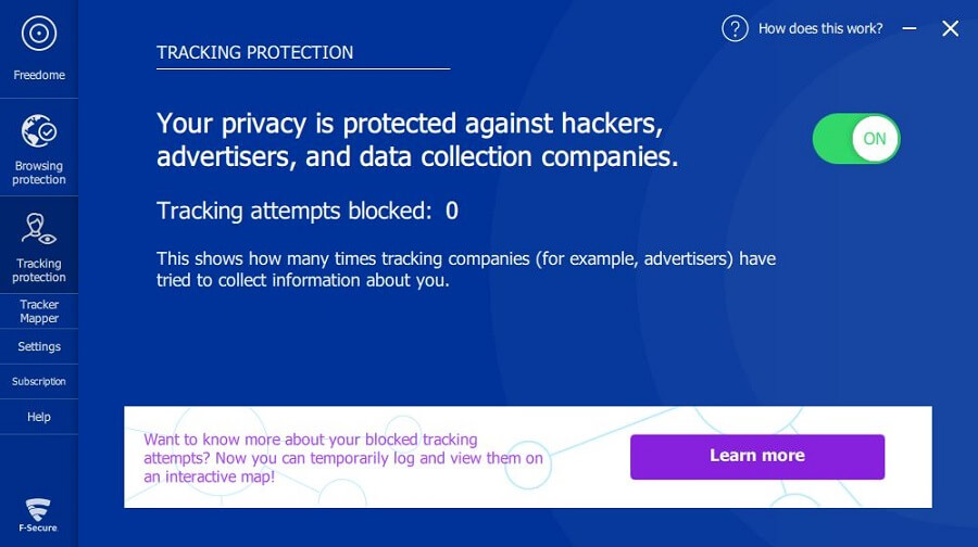 F-Secure Freedome Tracking Protection